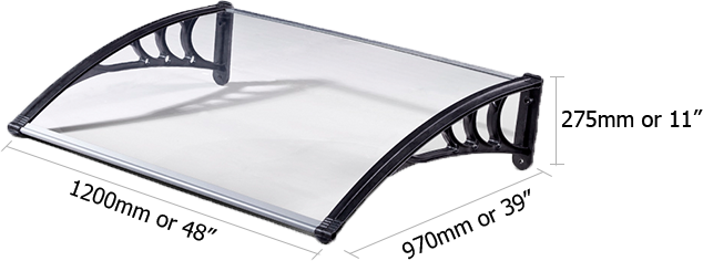 Awning Front Dimension 1200mm or 48 inches